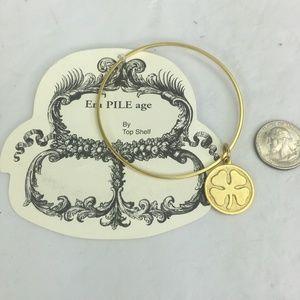 Top Shelf Lucky Clover Bracelet Anthropologie New